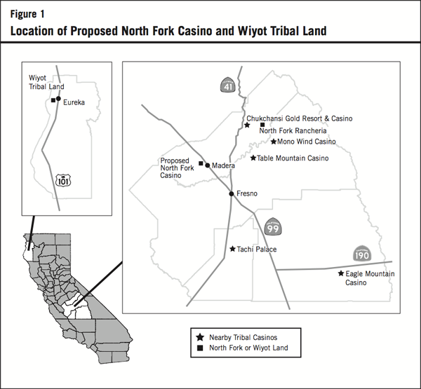 Figure 1: Location of Proposed North Fork Casino and Wiyot Tribal Land